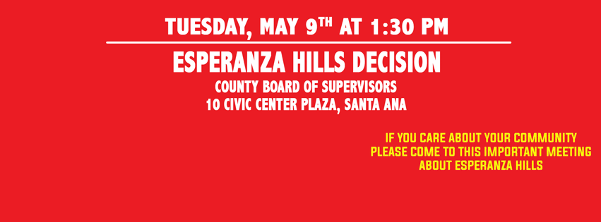 Calling all RED Shirts!! Join us May 9th before the Board of Supervisors!