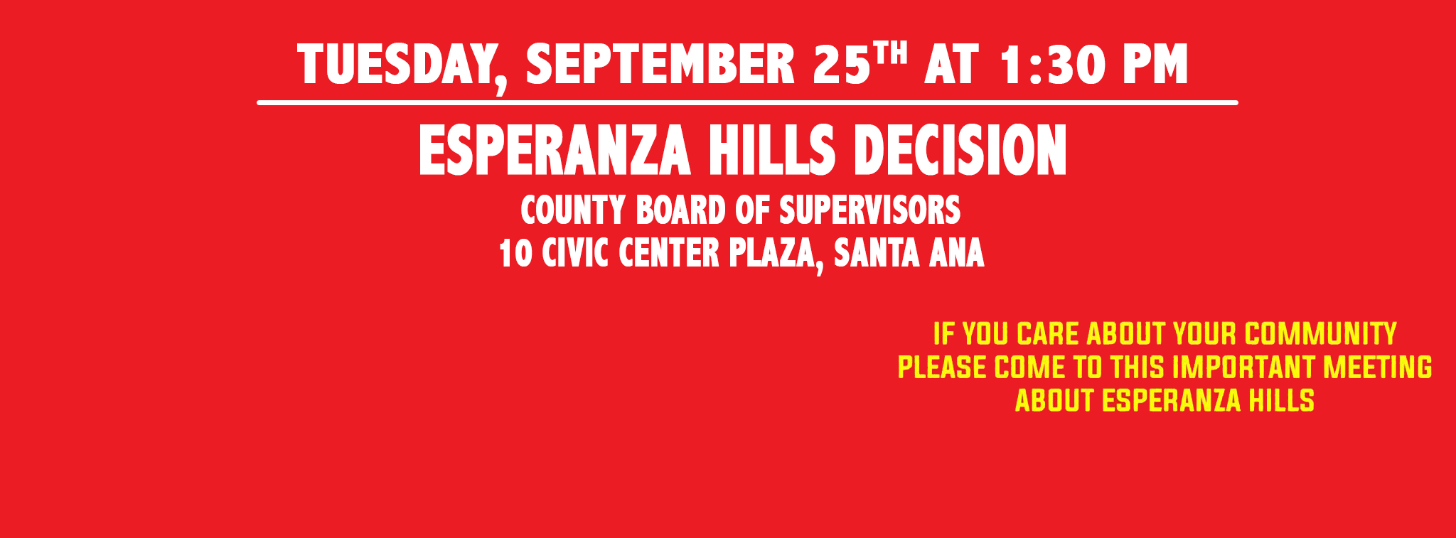 Next Board of Supervisors Public Hearing - September 25, 2018 at 1:30 PM
